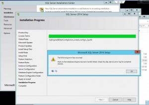Error when installing SQL