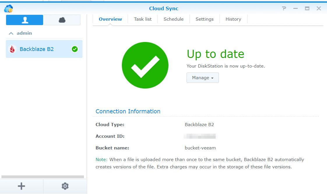 Veeam & Backblaze B2 - Install and Configure Synology