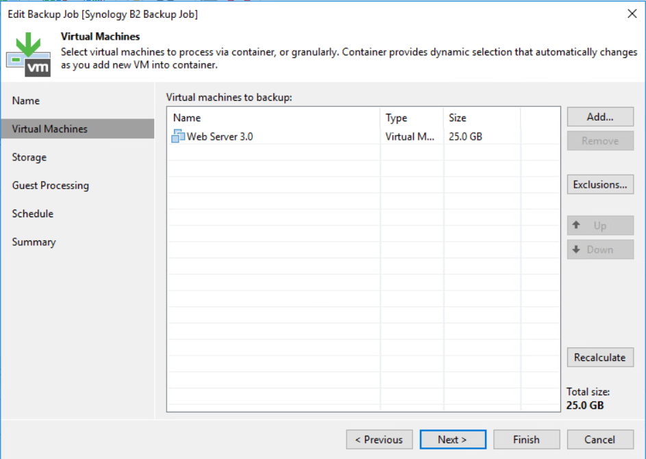 Veeam and Backblaze B2 - Create the Veeam Backup Job